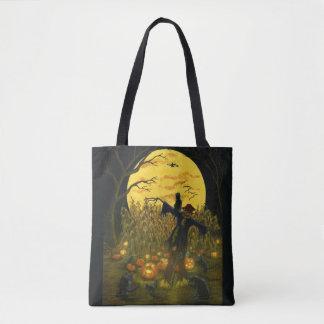 La bolsa de asas del espantapájaros de Halloween