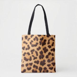 La bolsa de asas del estampado leopardo