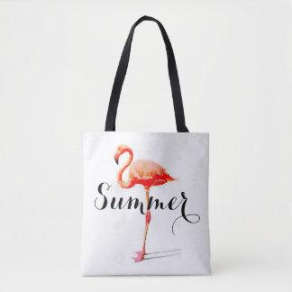 La bolsa de asas del flamenco del verano de las
