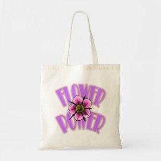 La bolsa de asas del flower power - diseño de la