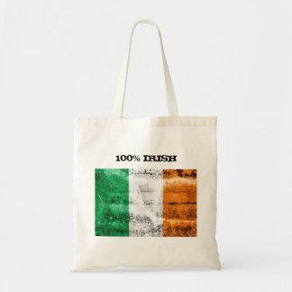 La bolsa de asas del irlandés del 100%