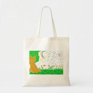 La bolsa de asas del jardín de la primavera