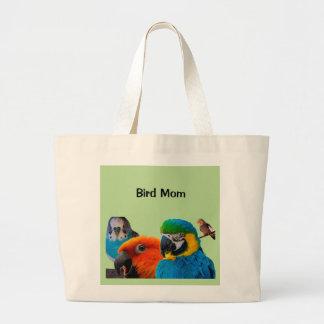 La bolsa de asas del jumbo de la mamá del pájaro