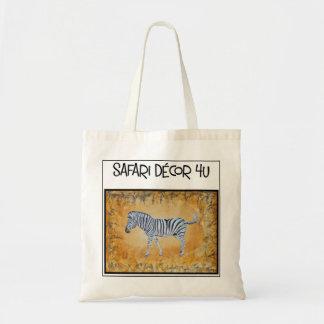 La bolsa de asas del logotipo de la cebra