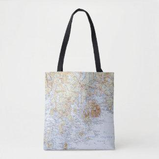 La bolsa de asas del mapa de Downeast Maine