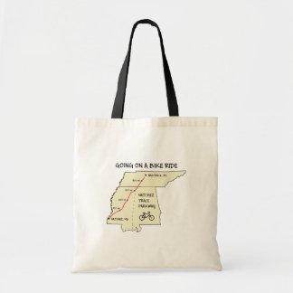 La bolsa de asas del mapa de ruta del rastro de