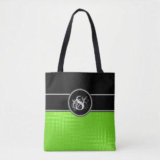 La bolsa de asas del monograma de la cal de Aspen