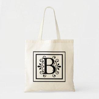 La bolsa de asas del monograma de la letra B
