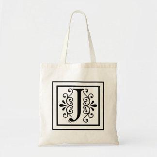 La bolsa de asas del monograma de la letra J