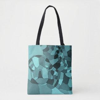 La bolsa de asas del mosaico de la tortuga de mar
