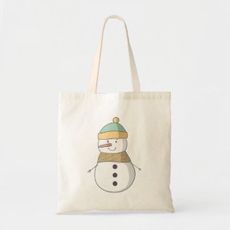 La bolsa de asas del muñeco de nieve