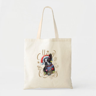 La bolsa de asas del navidad de Boston Terrier