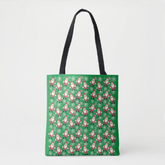 La bolsa de asas del navidad del gnomo del vintage