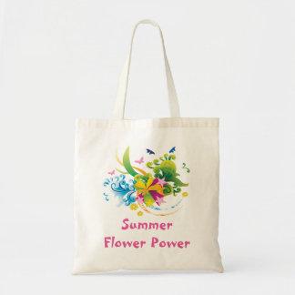 La bolsa de asas del presupuesto de flower power