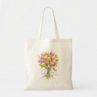 La bolsa de asas del ramo del tulipán de la