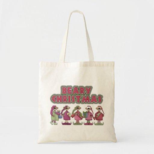 La bolsa de asas del regalo del navidad de Beary