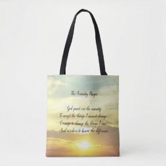 La bolsa de asas del rezo de la serenidad