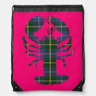 La bolsa de asas del rosa del tartán de la
