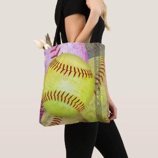 la bolsa de asas del softball de las mujeres con