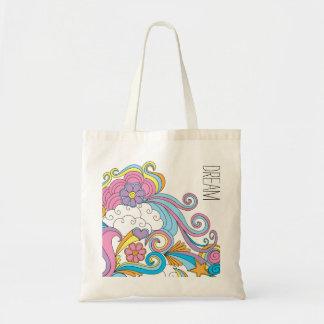"""La bolsa de asas del """"sueño"""" del arte del Doodle"""