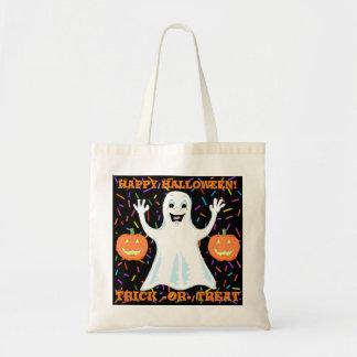 Bolso De Tela La bolsa de asas feliz de Halloween del fantasma