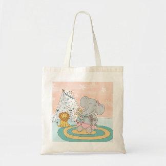 La bolsa de asas feliz del elefante y de los