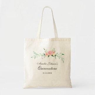La bolsa de asas floral botánica de Quinceanera de