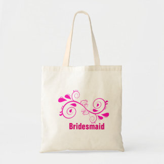 La bolsa de asas floral de encargo del boda de la