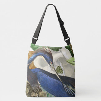 La bolsa de asas floral de la garza de Audubon de