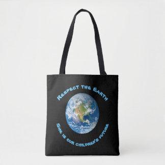 La bolsa de asas futura de los niños de la tierra