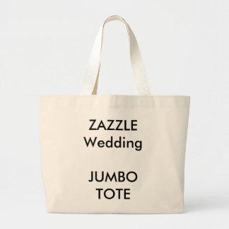 La bolsa de asas grande enorme de encargo del boda