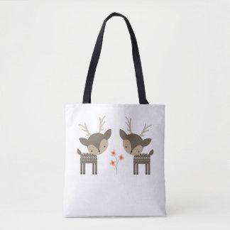 La bolsa de asas gris de los ciervos y de las