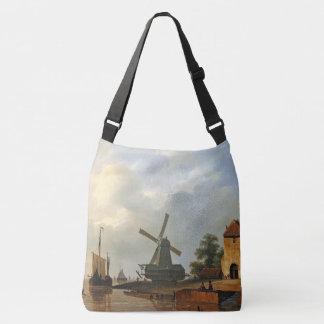 La bolsa de asas holandesa del molino de viento