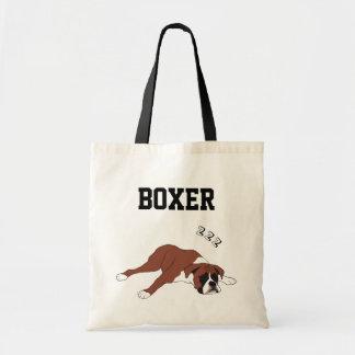 La bolsa de asas ilustrada boxeador