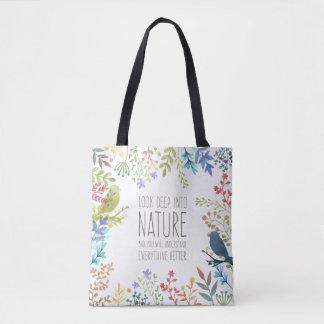 La bolsa de asas inspirada naturaleza colorida de