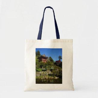 La bolsa de asas japonesa de la puerta del templo