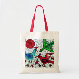 La bolsa de asas maya de los pájaros