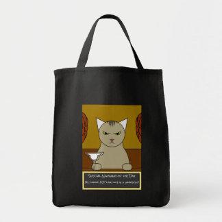 La bolsa de asas mexicana divertida del gato