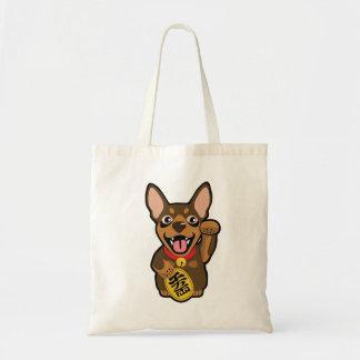 La bolsa de asas mínima ilustrada del perro del