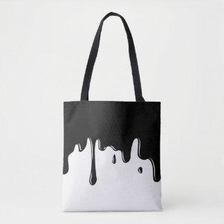 La bolsa de asas negra de goteo del limo