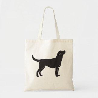 La bolsa de asas negra de la silueta del perro del