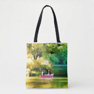 La bolsa de asas para el lago y el barco