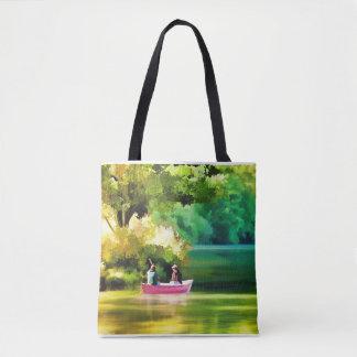 La bolsa de asas para la vida del lago y del barco