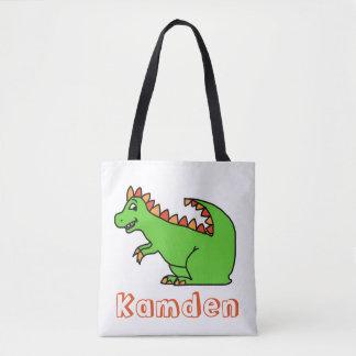 La bolsa de asas personalizada de Dino