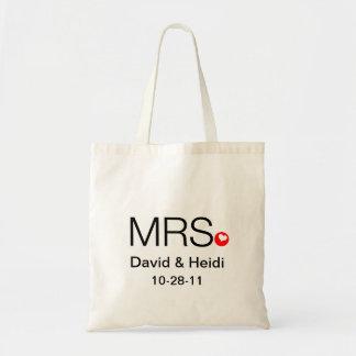 La bolsa de asas personalizada de señora Wedding