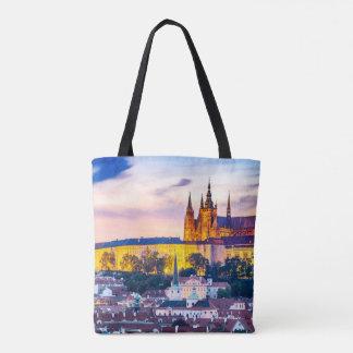La bolsa de asas Praga de la impresión del