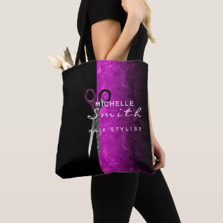 La bolsa de asas púrpura de moda del salón de pelo