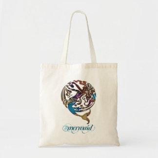 La bolsa de asas reutilizable de la sirena de