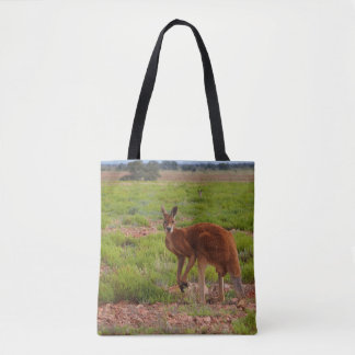 La bolsa de asas roja australiana del canguro