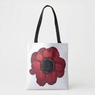 La bolsa de asas roja de la anémona